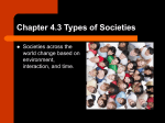 Chapter 4.3 Types of Societies