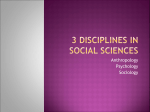 3 Disciplines in Social Sciences