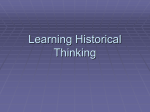 historical thinking intro
