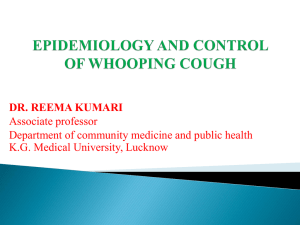 Whooping Cough Lecture
