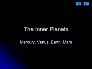 Section 14.3 The Inner Planets