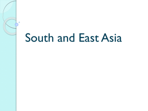 South and East Asia - St. Charles Parish Public Schools