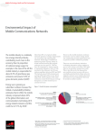 Environmental Impact of Mobile Communications Networks