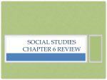 Social Studies Chapter 6 Review