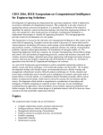 Symposium on Computational Intelligence for Engineering Solutions