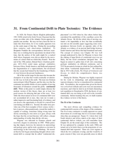 31. From Continental Drift to Plate Tectonics