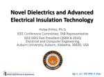 Novel Dielectrics and Advanced Electrical Insulation Technology