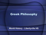 Greek Philosophy - Libertyville High School