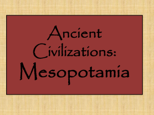 Ancient Civilizations Mesopotamia