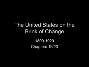 The United States on the Brink of Change
