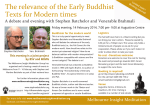 The relevance of the Early Buddhist Texts for Modern times