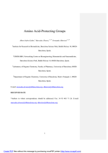 Amino Acid-Protecting Groups