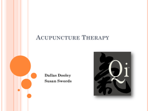 Acupuncture Therapy - Dallas Dooley Portfolio