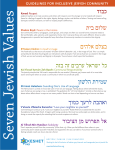 Guidelines for inclusive Jewish community