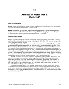 America in World War II, 1941-1945