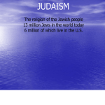 Judaism powerpoint notes