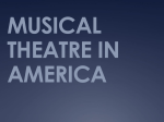 MUSICAL THEATRE IN AMERICA