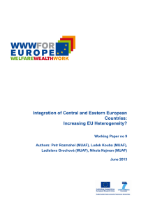 Integration of Central and Eastern European Countries: Increasing