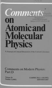on Atomic and Molecular Physics