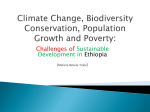 Climate Change, Biodiversity Conservation, Population Growth and