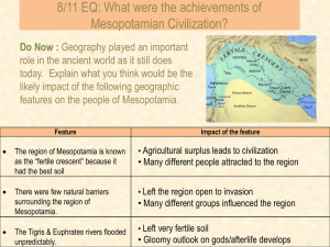 10/3 Aim: What were the achievements of Mesopotamian Civilization?