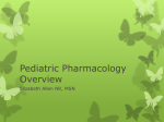 Pediatric Pharmacology Overview