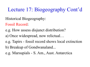 Lecture 17: Biogeography