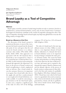 Brand Loyalty - Index Copernicus Journals Master List