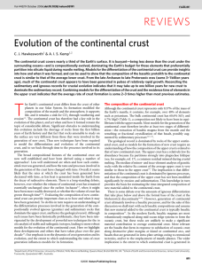 Evolution of the continental crust
