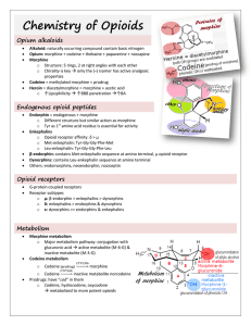 Chemistry of Opioids