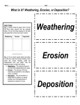 Weathering, Erosion, or Deposition? Weathering Erosion Deposition