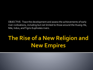 The Rise of a New Religion and New