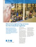 Electrical engineering services for the industrial segment