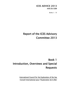 Report of the ICES Advisory Committee 2013 Book 1 Introduction