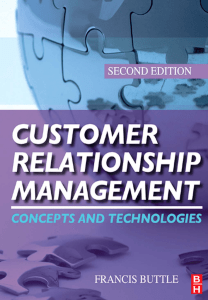 Francis Buttle Customer Relationship Management