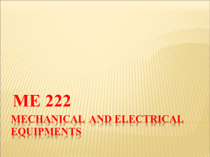 MECHANICAL AND ELECTRICAL EQUIPMENTS