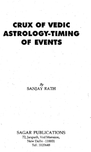 Crux of Vedic Astrology