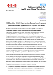 NICE/BHS Guideline Launch Press Statement June 2006