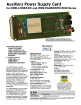 Auxiliary Power Supply Card for OMB