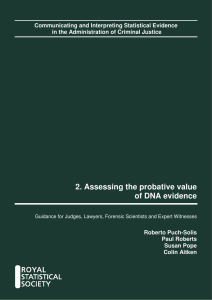 2. Assessing the probative value of DNA evidence