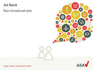 Ad Bank - Advertising Standards Authority