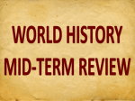 world history mid-term review