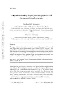 Superconducting loop quantum gravity and the cosmological constant