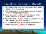 Origin of magma (pg.270-273)