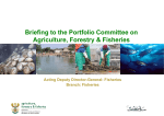 Briefing to the Portfolio Committee of Agriculture, Forestry and