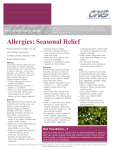 Allergies: Seasonal Relief