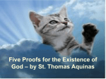 Five Proofs for the Existence of God – by St. Thomas Aquinas