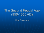 The Second Feudal Age (950