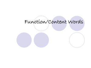 Content VS Function Words PPT