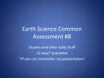 Earth Science Common Assessment #8